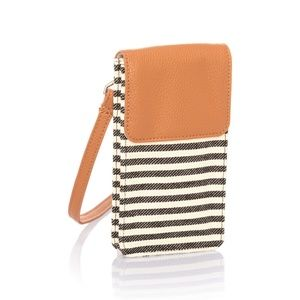 Thirty One Call Me Crossbody Twill Stripe NEW